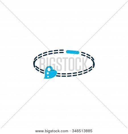Bracelet Icon Colored Symbol. Premium Quality Isolated Bangle Element In Trendy Style.