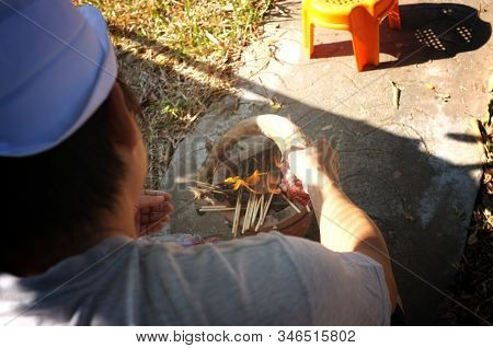 The Man Burn Oxtail , For Cooking Thai Oxtail Soup