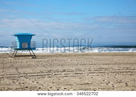 Lifeguard Station. Huntington Beach California Lifeguard station. Lifeguard stations are posted world wide on beaches to help keep people safe when they use the oceans around the world.