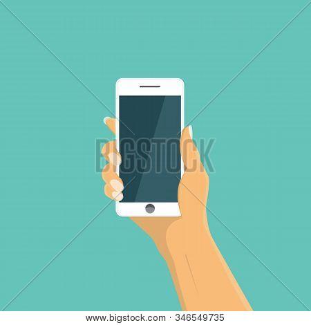 Hand Holding Smart Phone . Smart Phone In Hand.