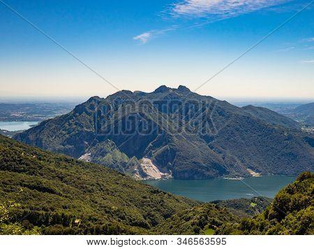 Monte Moregallo And Corni Di Canzo As Seen From Hiking Trail To Rifugio Rosalba On Grigna Meridional