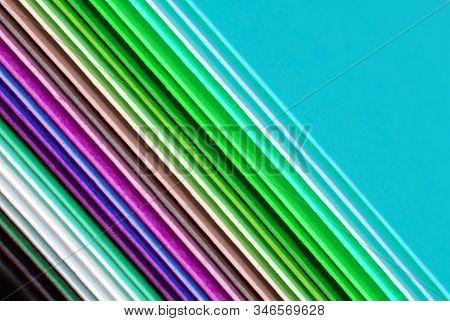 Close Up Of The Multicolour Paper Macro