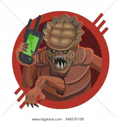 Alien Armored Five Legged Mobile Phone Calls Make A Screensaver On Your Phone Who Calls You For A Sm