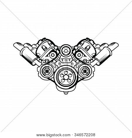 Engine Icon Isolated On White Background. Engine Icon Simple Sign. Engine Icon Trendy And Modern Sym