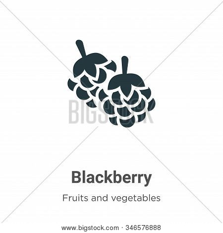 Blackberry icon isolated on white background from fruits and vegetables collection. Blackberry icon