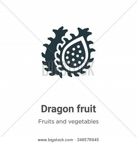 Dragon fruit icon isolated on white background from fruits and vegetables collection. Dragon fruit i