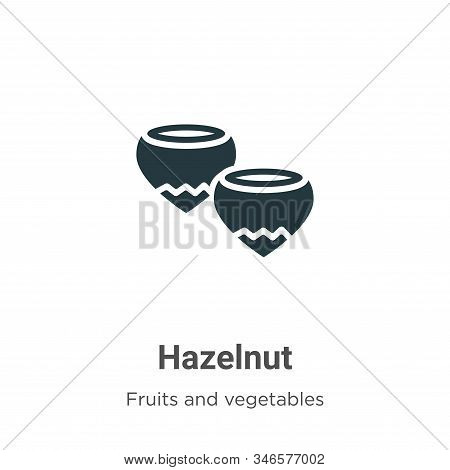 Hazelnut icon isolated on white background from fruits and vegetables collection. Hazelnut icon tren