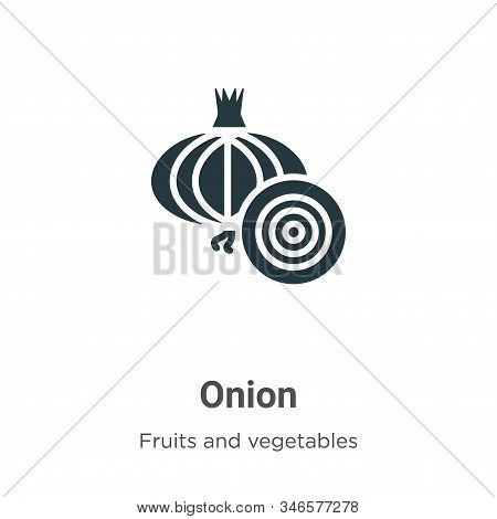 Onion icon isolated on white background from fruits collection. Onion icon trendy and modern Onion s