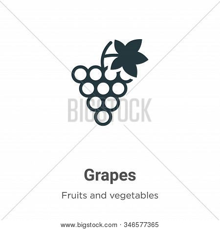 Grapes icon isolated on white background from fruits collection. Grapes icon trendy and modern Grape