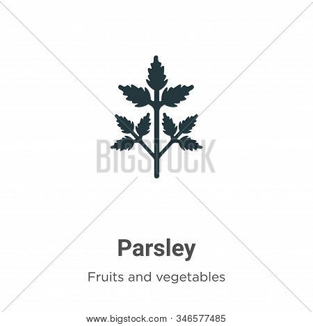 Parsley icon isolated on white background from fruits collection. Parsley icon trendy and modern Par