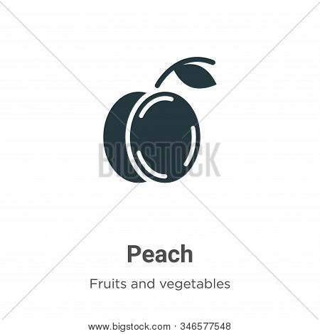 Peach icon isolated on white background from fruits collection. Peach icon trendy and modern Peach s