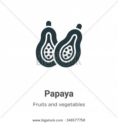 Papaya icon isolated on white background from fruits collection. Papaya icon trendy and modern Papay
