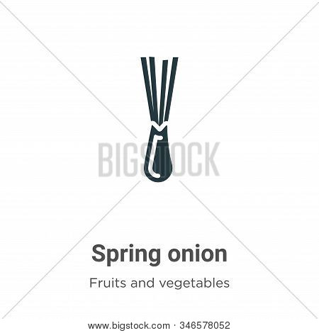Spring onion icon isolated on white background from fruits collection. Spring onion icon trendy and