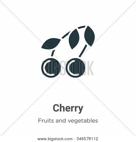 Cherry icon isolated on white background from fruits collection. Cherry icon trendy and modern Cherr