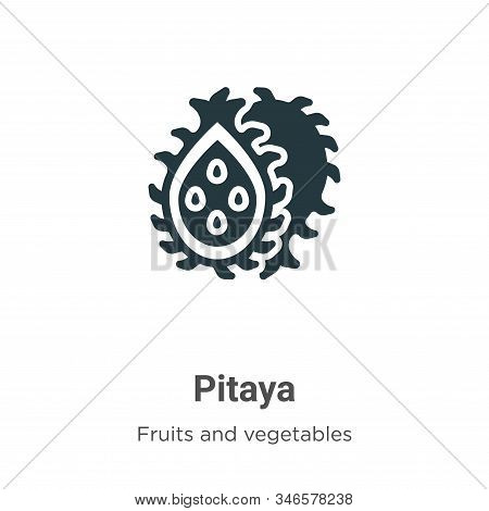 Pitaya icon isolated on white background from fruits collection. Pitaya icon trendy and modern Pitay
