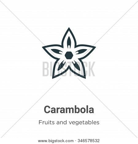 Carambola icon isolated on white background from fruits collection. Carambola icon trendy and modern