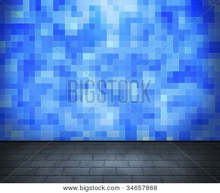 Blue Tiled Interior