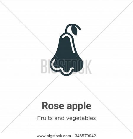 Rose apple icon isolated on white background from fruits collection. Rose apple icon trendy and mode