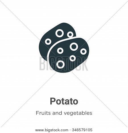 Potato icon isolated on white background from fruits collection. Potato icon trendy and modern Potat