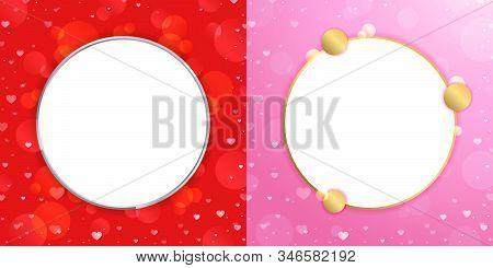 Valentine's Day Frame Background, Love Symbol Illustration Banner Background, Greeting Card Design