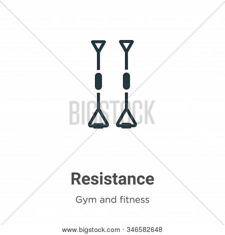 Resistance Glyph Icon Vector On White Background. Flat Vector Resistance Icon Symbol Sign From Moder