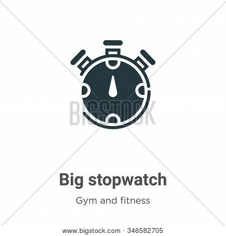 Big stopwatch icon isolated on white background from gym and fitness collection. Big stopwatch icon