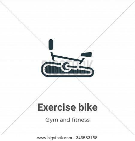 Exercise bike icon isolated on white background from gym and fitness collection. Exercise bike icon