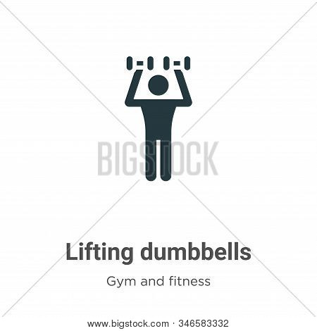 Lifting dumbbells icon isolated on white background from gym and fitness collection. Lifting dumbbel