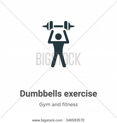 Dumbbells exercise icon isolated on white background from gym and fitness collection. Dumbbells exer