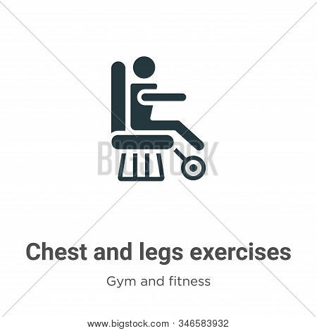 Chest and legs exercises icon isolated on white background from gym and fitness collection. Chest an