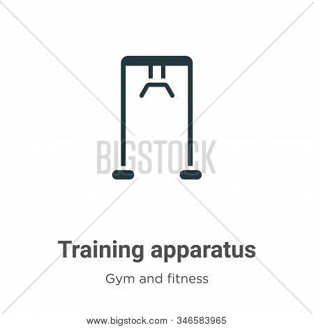 Training apparatus icon isolated on white background from gym and fitness collection. Training appar