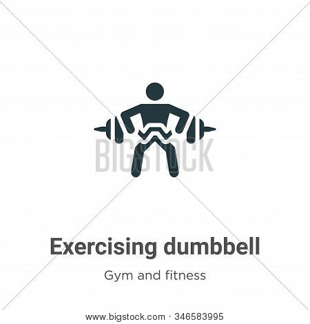 Exercising dumbbell icon isolated on white background from gym and fitness collection. Exercising du