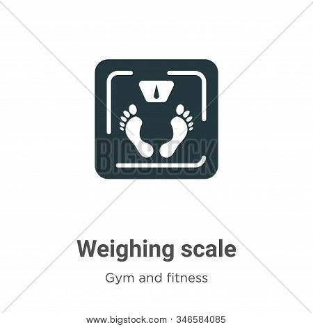 Weighing scale icon isolated on white background from gym and fitness collection. Weighing scale ico