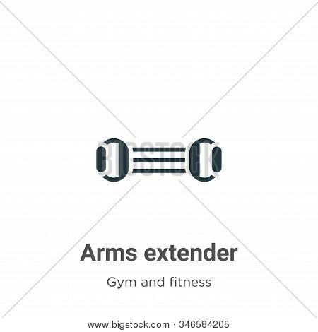 Arms extender icon isolated on white background from gym and fitness collection. Arms extender icon