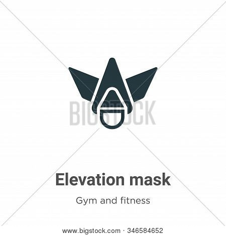 Elevation mask icon isolated on white background from gym and fitness collection. Elevation mask ico