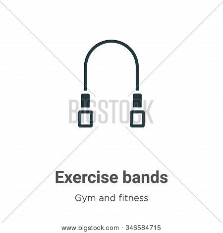 Exercise bands icon isolated on white background from gym and fitness collection. Exercise bands ico