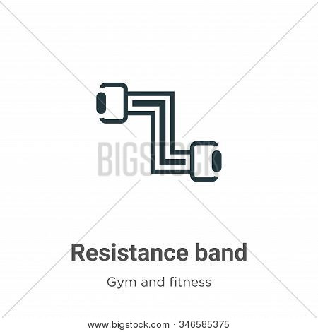 Resistance band icon isolated on white background from gym and fitness collection. Resistance band i