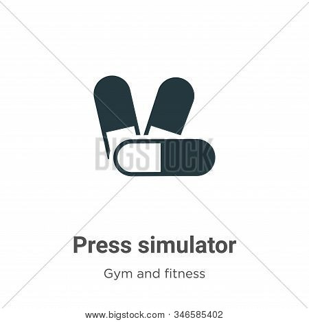 Press simulator icon isolated on white background from gym and fitness collection. Press simulator i