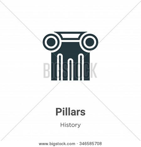 Pillars icon isolated on white background from history collection. Pillars icon trendy and modern Pi
