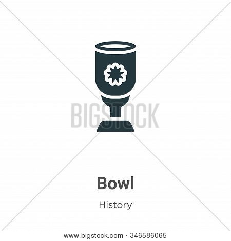 Bowl icon isolated on white background from history collection. Bowl icon trendy and modern Bowl sym