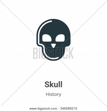 Skull icon isolated on white background from history collection. Skull icon trendy and modern Skull