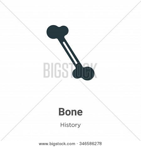Bone icon isolated on white background from history collection. Bone icon trendy and modern Bone sym