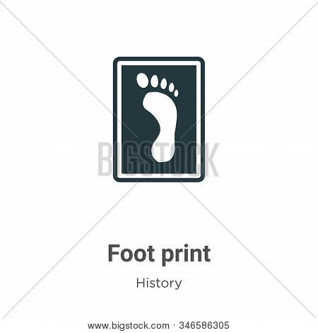 Foot print icon isolated on white background from history collection. Foot print icon trendy and mod
