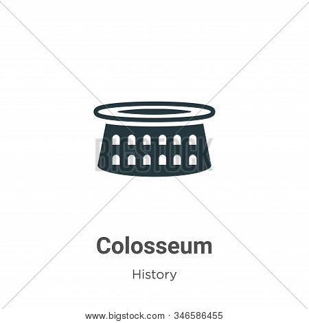 Colosseum icon isolated on white background from history collection. Colosseum icon trendy and moder