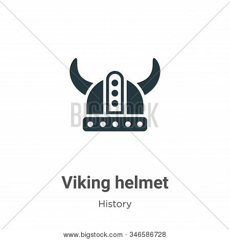 Viking helmet icon isolated on white background from history collection. Viking helmet icon trendy a