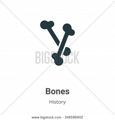 Bones icon isolated on white background from history collection. Bones icon trendy and modern Bones