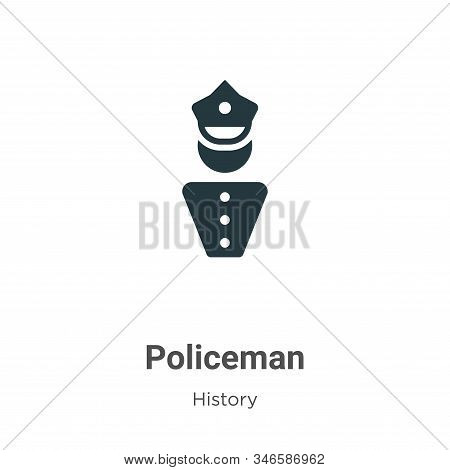Policeman icon isolated on white background from history collection. Policeman icon trendy and moder