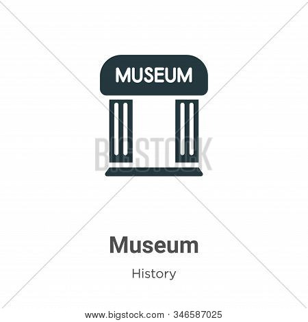 Museum icon isolated on white background from history collection. Museum icon trendy and modern Muse