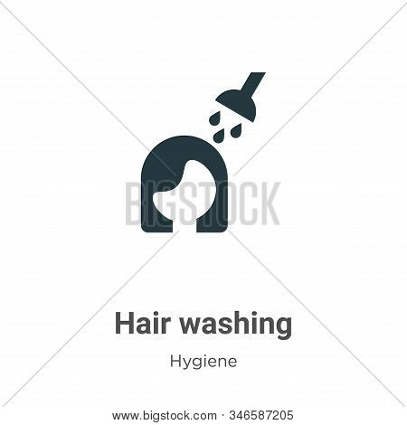 Hair washing icon isolated on white background from hygiene collection. Hair washing icon trendy and