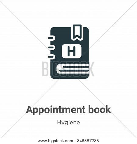 Appointment Book Glyph Icon Vector On White Background. Flat Vector Appointment Book Icon Symbol Sig